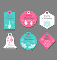 assorted christmas tags vector image vector image