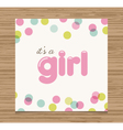 baby shower card girl vector image vector image