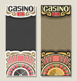 banners for casino vector image vector image