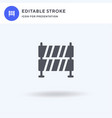 barrier icon filled flat sign solid vector image vector image