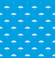 beach umbrella pattern seamless blue vector image vector image