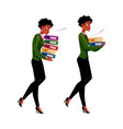 black african businesswoman carrying document vector image vector image