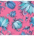 Blue and Pink Lotus Pattern vector image vector image