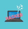 broken computer hacker attack theme vector image