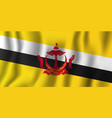 brunei realistic waving flag national country vector image vector image