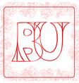 BU monogram vector image vector image