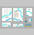 business presentation infographic elements vector image