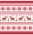Christmas and Winter knitted seamless pattern car