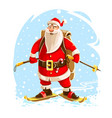 christmas santa claus merry vector image