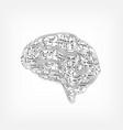 circuit board brain vector image vector image