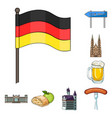 country germany cartoon icons in set collection vector image