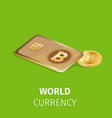 cryptocurrency finance and digital technology vector image