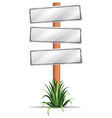 Empty signboards vector image vector image
