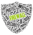 Firewall word cloud in a shape of shield vector image vector image
