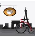 France design coffee shop eiffel tower landmark vector image vector image