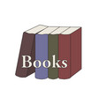 group of standing books retro color flat simple vector image vector image
