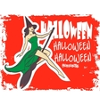 Halloween art design poster invitation Sexy vector image vector image