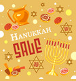 hanukkah sale concept background cartoon style vector image vector image