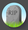 headstone icon in cartoon style funeral ceremony vector image vector image