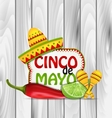 Holiday Greeting Background for Cinco De Mayo vector image vector image