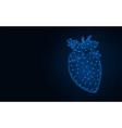 human heart low poly model organs abstract vector image vector image