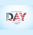 independence day of the usa vector image vector image
