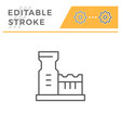 industrial plant line icon vector image