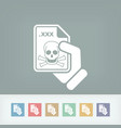 infected file icon vector image