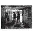 little rock prison vintage vector image vector image