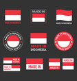 made in indonesia icon set product labels the vector image vector image