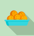 mexican cookie icon flat style vector image