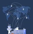 modern international passenger airport building vector image vector image