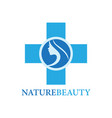 nature beauty logo vector image