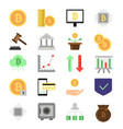 pictures set of different symbols of finance and vector image vector image