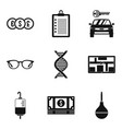 pocket icons set simple style vector image