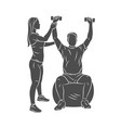 professional rehabilitation physiotherapy worker vector image