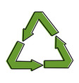 recycle arrows symbol icon vector image