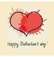 Red heart scribble vector image vector image