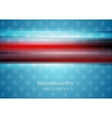 Red smooth stripes on blue star background Usa vector image vector image