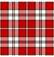 red tartan plaid scottish pattern vector image vector image
