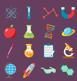 Science Icon Flat Color Set vector image vector image