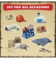 Set for all occasions medical items vector image vector image