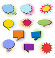 set of colorful comic bubbles and elements with vector image vector image