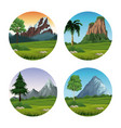 set of landscapes vector image vector image