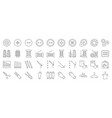 sewing and handcraft elements icon editable line vector image