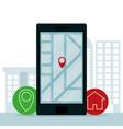 smartphone gps app vector image