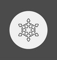 snowflake icon sign symbol vector image