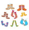 Socks set for christmas vector image vector image