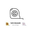 tape measure icon building and household tools vector image vector image