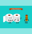 tissue paper characters with happy retirement vector image